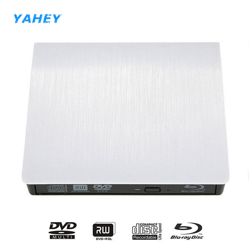 Blu-ray Player External USB 3.0 DVD Drive Play 3D movies 25G 50G BD-ROM CD/DVD RW Burner Writer Recorder for Laptop Computer PC 3d blu ray drive external usb3 0 cd dvd rw burner bd rom blu ray optical drive writer for apple imacbook laptop compute