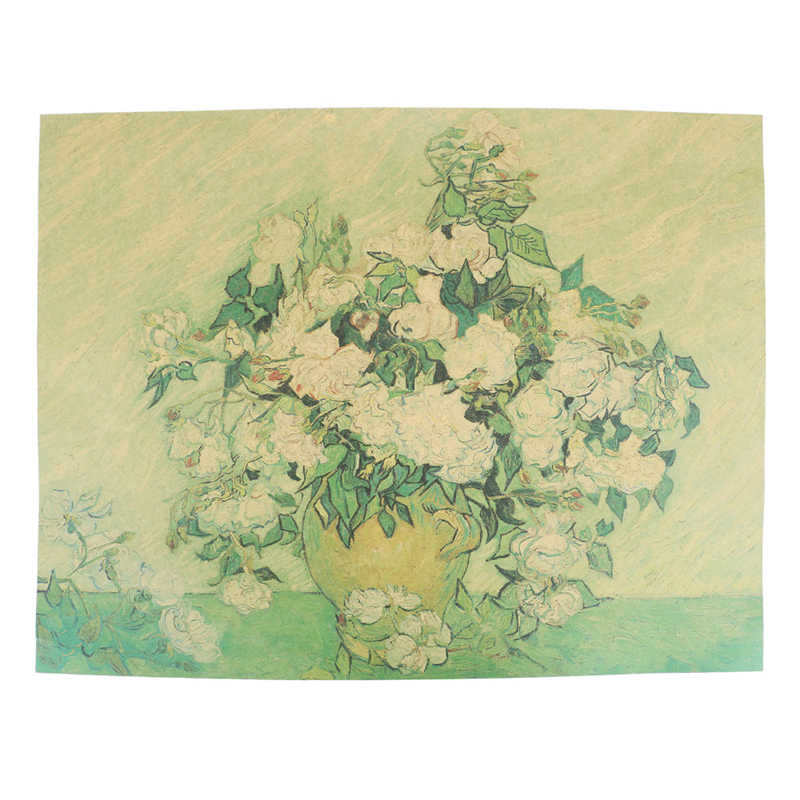 Abstract  Van Gogh Oil Painting Works Sunflower Apricot Canvas Art Print Poster Picture Wall House Decoration Murals 47X36cm