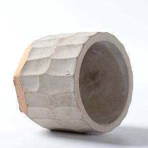 Image 3 - Round Silicone Concrete Mold for Succulent Plants Flower Pot DIY Ashtray Plaster Cement Mould