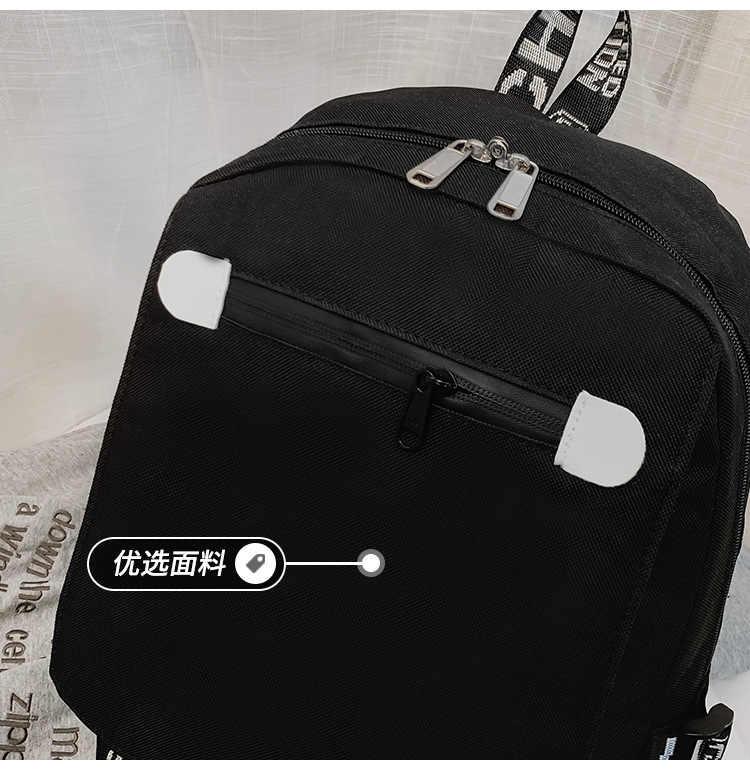 SAO Sword Art Online рюкзак USB Сумка дорожная школьная светящаяся сумка для книг USB модная Подростковая сумка для ноутбука на молнии светится в темноте