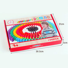 100pcs /10 Colors Wooden Domino kids Toy Classic Desktop games/Table Game wood Building blocks Domino Challenging game Block toy 120 dominoes in 12 colors contains a set of 10 domino accessories kids wooden domino building blocks toys classic montessori toy