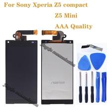 "4.6 ""AAA สำหรับ Sony Xperia Z5 ขนาดกะทัดรัด LCD + หน้าจอสัมผัส digitizer แทนสำหรับ Sony XPERIA Z5 mini e5823 E5803 LCD ส่วนประกอบ"
