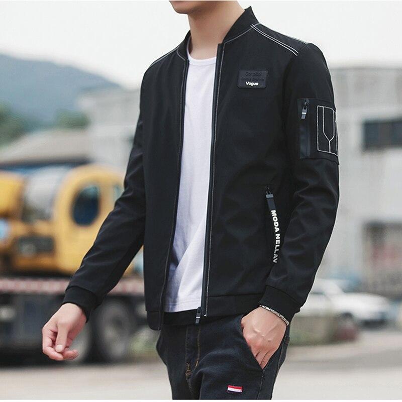 HCXY 2017 New Men Jacket Spring Autumn Fashion Brand Slim Fit Coats Male Baseball Bomber Jacket Mens Coat large size 5XL 3