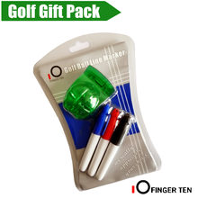 Golf Line Tool Driving Range Drawing Tools Golf Line Marker with 3 Pen Plastic Template Putt Alignment Golf Ball Liner Mark Clip(China)