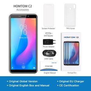 Image 5 - オリジナルhomtom C2 アンドロイド 8.1 2 ギガバイト + 16 ギガバイトrom携帯電話の顔id MTK6739 クアッドコア 13MPデュアルカメラota 4 グラムFDD LTEスマートフォン