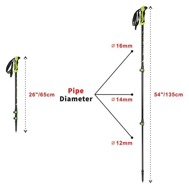 Hitorhike for nordic walking stick