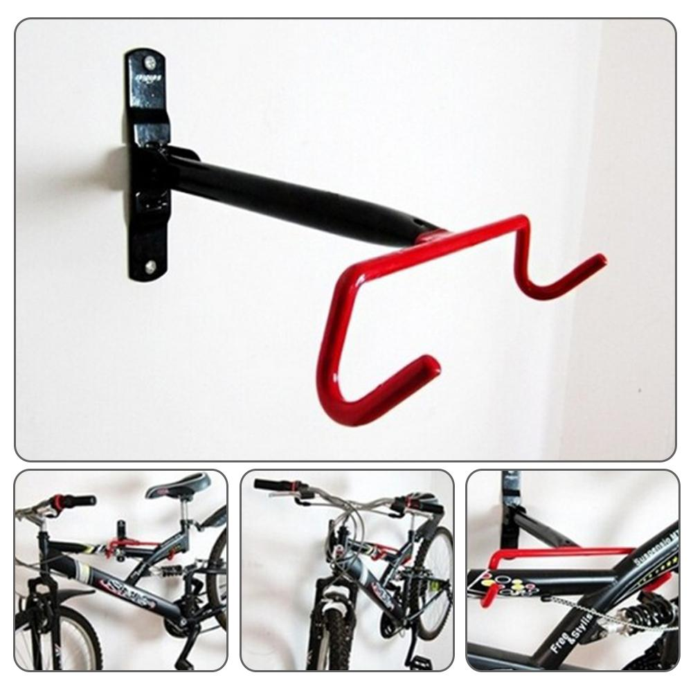 Bicycle Holder Wall Mount Hook Bike Hanger Metal Rack Garage Storage Foldable