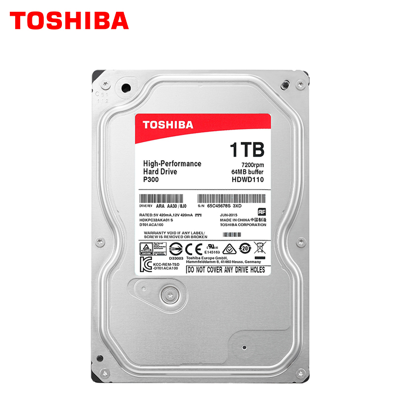 TOSHIBA High Performance 1TB Hard Drive Disk 1000GB HDD 3.5 Desktop PC Computer Internal HD SATA 3 7200RPM 64M Cache 6.0 Gbit/S samsung internal ssd 850 evo msata sata iii 250gb 500gb 1t solid state drive hd hard high speed for pc computer desktop