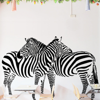 Huge Zebra Vinyl Wall Decal Sticker Mural Art Home Mural For Living Room Decor wall stickers zebra print t1155