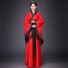 Lady Chinese Traditional Ancient Tang Suit Hanfu Costumes Adult Female Womens Dress Stage Men Dresses
