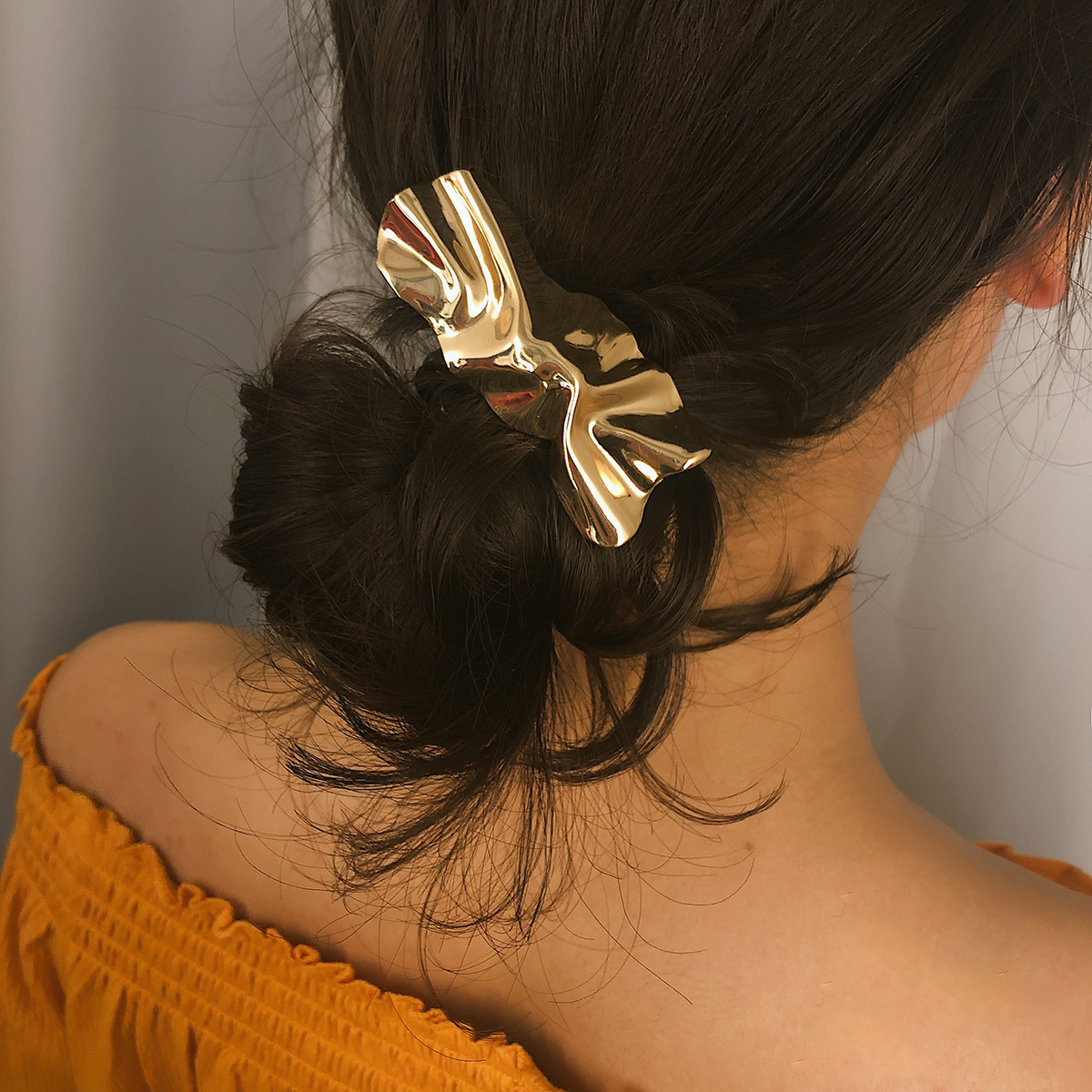 Punk Metal Iron Sheet Barrettes Hairpins Geometric Irregular Gold Color Hair Clip for Women Jewelry Hair Accessories in Women 39 s Hair Accessories from Apparel Accessories