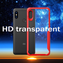 Hybrid Airbag ShockProof Clear Case for Xiaomi Redmi Note 6 Pro Protective Hard PC+Soft TPU Cover A2 Lite