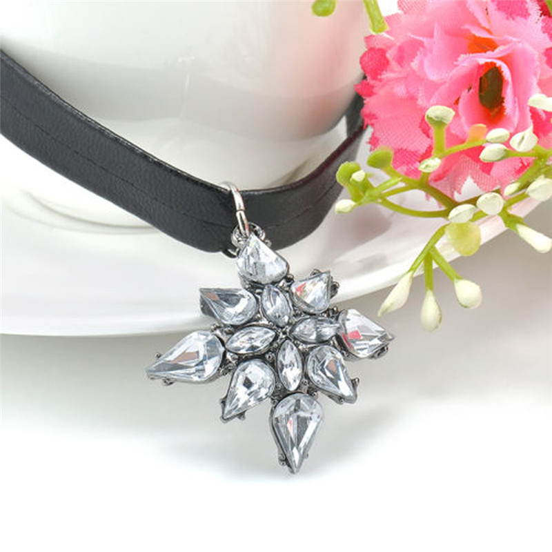 Bling World Gothic Choker Charm Pendant Necklace Women Vintage Black Jewelry Delicate New Arriva