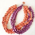 Three Strands Stone Fashion Statement Chunky Hot Sale Necklace