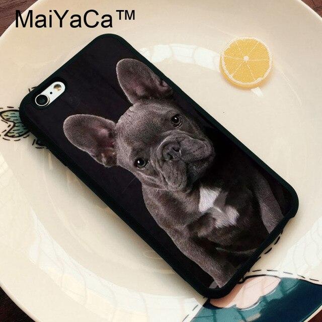 Maiyaca Bulldog Francese Grigio Puppy Dog Casi Per Iphone 6 Cassa