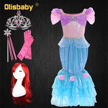 Boutique The Little Mermaid Princess Ariel Dress for Girls Birthday Christmas Childrens Party Halloween Carnival Costume Child
