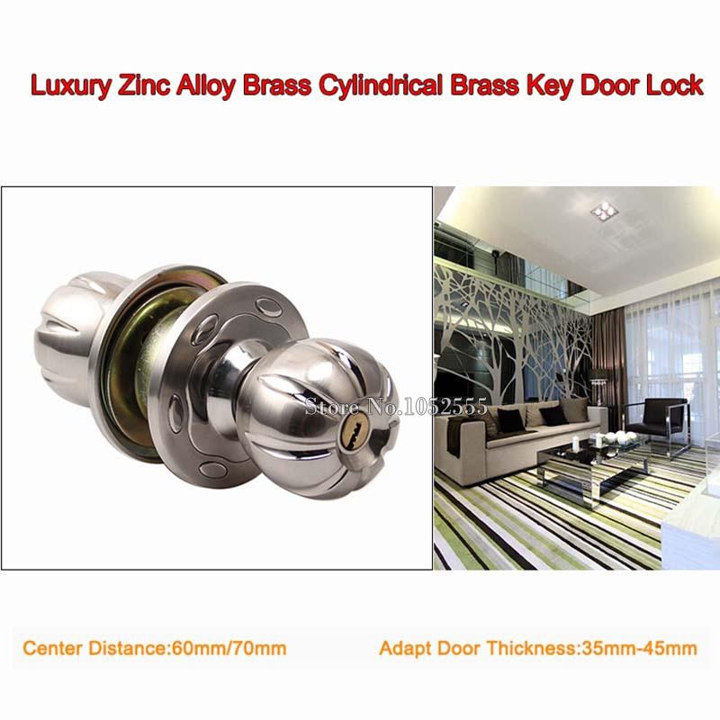 Luxury Brass Cylindrical Lock Security Door Lock With Key Door ...