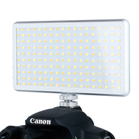 Ultral Thin X 180 Portable LED Video Light On Camera High CRI Dimmable Photography Lighting DSLR Camera Lamp VS Iwata