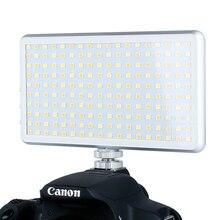 Ultral fino X 180 portátil led luz de vídeo na câmera alta cri pode ser escurecido fotografia iluminação dslr câmera lâmpada vs iwata