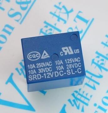 Free shipping 100pcs lot SRD 12VDC SL C T73 PCB Type 12V 10A 250v relay