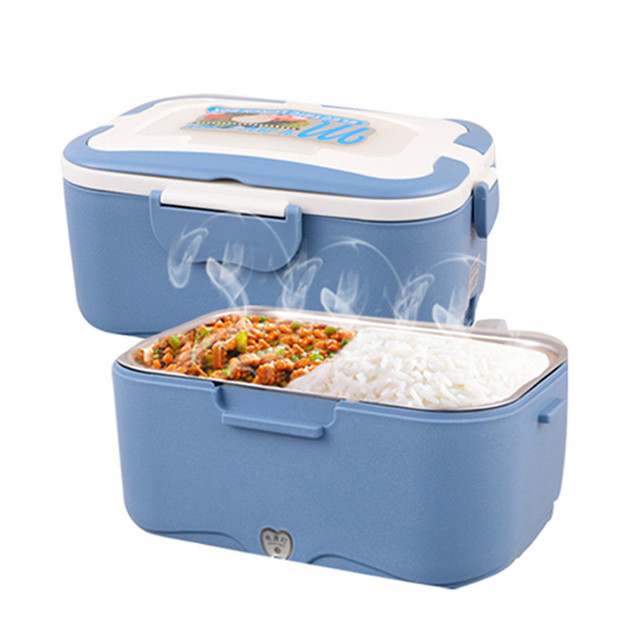 Portable Food Warmer Box ~ Electric food heater lunch box stainless steel inner