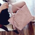 MIWIND moda formal de las mujeres bolso de la vendimia breve un hombro bolsas portátiles gris/negro/color de rosa/verde grande capacidad de la bolsa