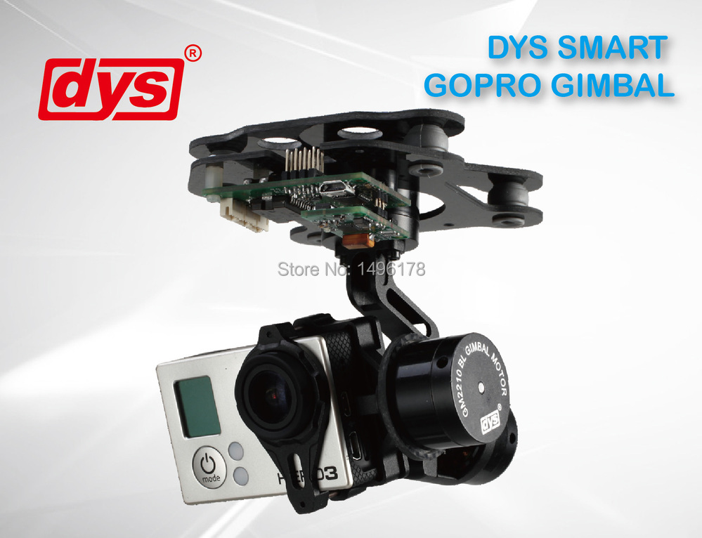 DYS SMART 3 Axis Gimbal Control Mount Kit + GM2210 Brushless Motor + AlexMos Controller For Gopro Hero 3 Camera Photography FPV dys 3 axis gimbal mount kit 3pcs 4108 brushless motor 8bit alexmos controller for sony nex ildc camera photography fpv