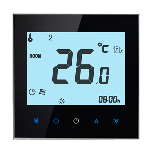 THP-1000GB WIFI Touch Screen underfloor heating room thermostat digital heating thermostat valve radiator linkage controller weekly programmable room thermostat wifi app for gas boiler underfloor heating