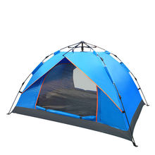 лучшая цена Single-layer outdoor supplies spring automatic tent 3-4 people camping camping tent waterproof mountaineering large family tent