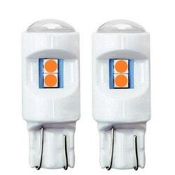 2 pièces 2019 nouveau T10 W5W céramique Super lumineux 3030 ampoule LED voiture intérieur lecture dôme lampes 501 WY5W LED Auto cale feux de stationnement