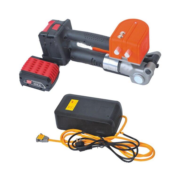 110V/220V PET Plastic Steel Belt Portable Charging Baling Press PET Strap Strapping Machine Handheld Electric Baler D19