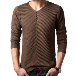 M-4XL зима Хенли шеи свитер Для мужчин кашемировый пуловер, Рождественский свитер Для мужчин s вязаные свитера тянуть Homme свитера цвета Омбре