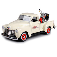 Maisto 1:25 1950 chevrolet 3100 pickup truck model 2001 flsts heritage springer motorcycle diecast big truck diecast shape 32194