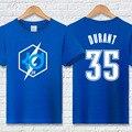 Plus size camiseta hiphop dos homens kevin durant kd clothing 100% algodão da marca de moda casual t-shirt carta homme verão aptidão
