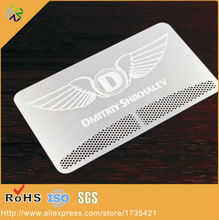 (250pcs/lot)custom logo/words/logo high-grade stainlesss steel material business card