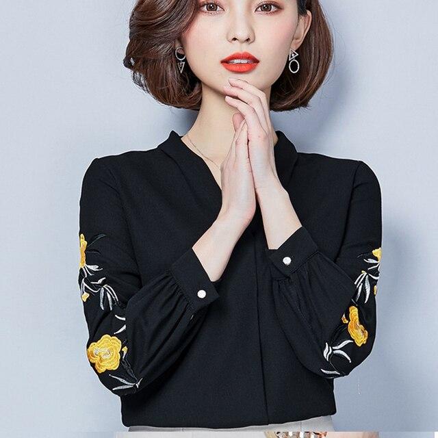 c38bd2fd861 Винтаж цветочный Летняя Блузка шифон с длинными рукавами Для женщин рубашки белый  Летняя блузка s тела
