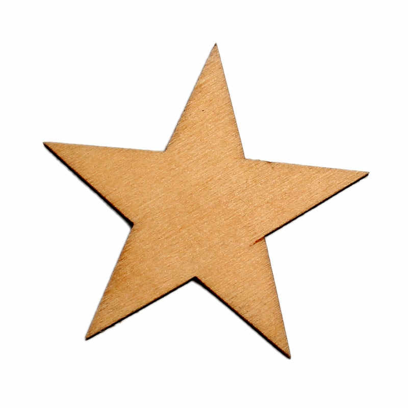 Detail Feedback Questions About 30pcs Natural Stars Wood Craft