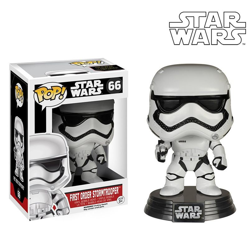 ФОТО funko pop star wars stormtrooper #66 bobble-head vinyl figure collection toy doll 12cm