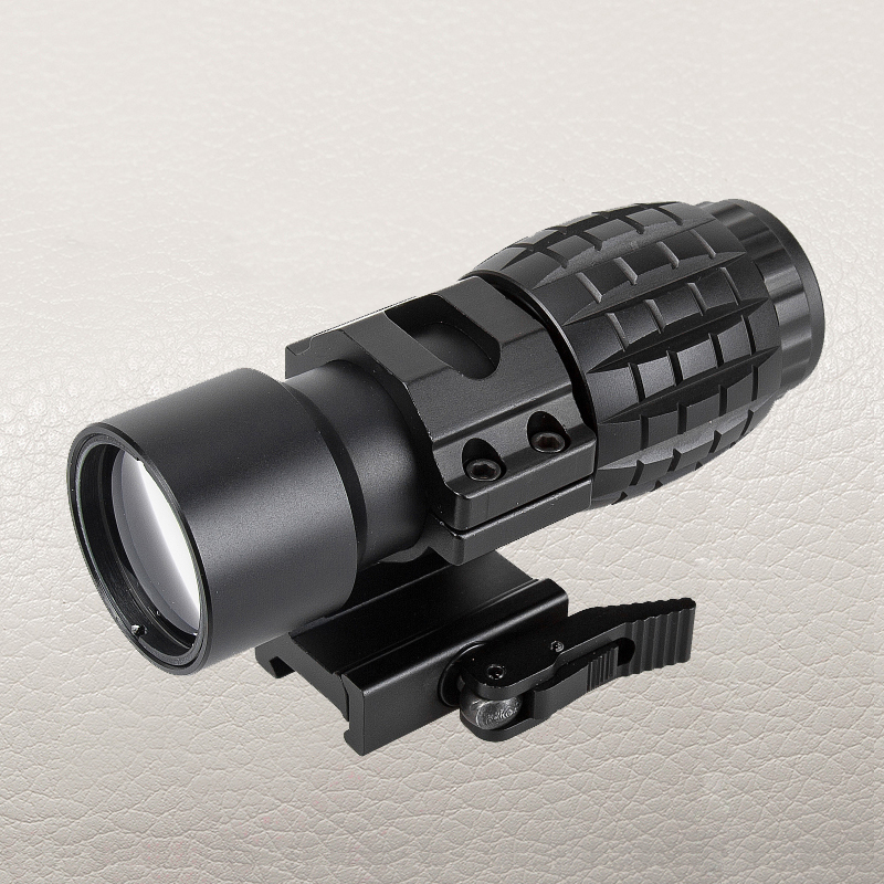 FIRE WOLF Tactical Red Dot Sight Scope 3x Magnifier Fits Dot Sight With Flip To Side Picatinny Weaver Rail Mount Hunting tactical red dot sight scope 3x magnifier side flip mount for picatinny rial mount base rbo bk m7467