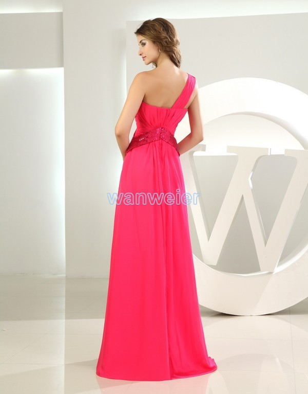 free shipping maxi dresses long 2016 vestidos formales brides maid dress  plus size fuschia red chiffon long Bridesmaid Dresses-in Bridesmaid Dresses  from ... ef8cd17aab4a