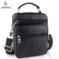 ZZNICK 2017 New Genuine Leather Men Fashion Crossbody Bag Men Messenger Bags Casual Shoulder Designer Crocodile