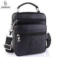 ZZNICK 2017 New Genuine Leather Men Fashion Crossbody Bag Men Messenger Bags Casual Shoulder Designer Crocodile