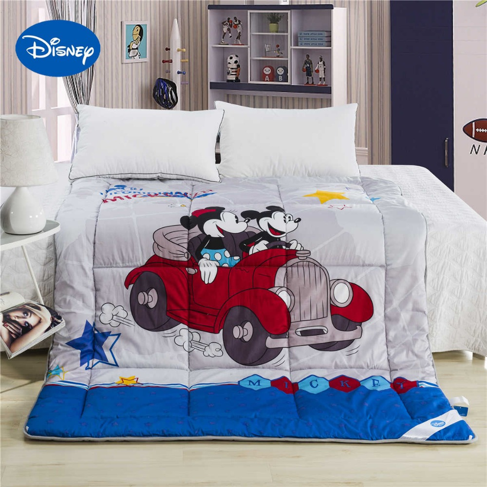 Miciey And Minnie Mouse Cars Comforters Disney Cartoon Character Cotton Cover Quilts Boys Bedding Single Twin