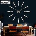 100% Positive feedback 3DWall Clock Acrylic EVR Metal Mirror Super Big Personalized Digital Watches Clocks hot DIY Free shipping
