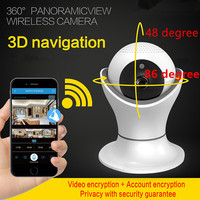 Wireless Security Monitor Digital Camera 2 Million Pixel HD IP Camera Cup Shape 360VR Panoramic Shake Head Machine