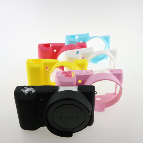 Free Shipping Black Soft Silicone Rubber <font><b>Camera</b></font> Protective Body Cover <font><b>Case</b></font> Skin for <font><b>Sony</b></font> <font><b>Alpha</b></font> A5100 <font><b>A5000</b></font> 16-50mm in 8 Colors image