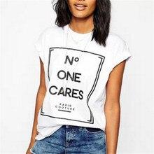 Women cute letters print T shirt camisas femininas European basic short sleeve O neck Shirts casual tops plus