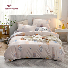 Slowdream Pineapple Pattern Bedding Set Bedspread Double Queen King Size Duvet Cover Comfort Bedclothes Home Textiles Sheet