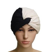 muslim inner hijabs patchwork turban women hijab caps headband hats islamic scarf sleeping wraps