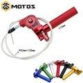 ZS MOTOS 22mm CNC Aluminium Acerbs Gas Grip Schnell Twister + Gaszug CRF50 70 110 IRBIS 125 250 dirt Bike Motorrad-in Griffe aus Kraftfahrzeuge und Motorräder bei